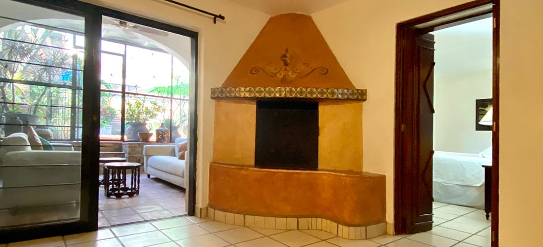 Casita fireplace