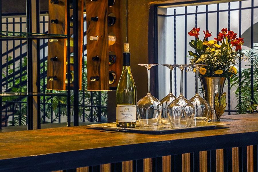 Wine bar at Casa del Sol